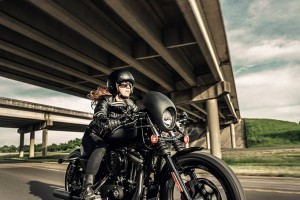 Woman riding a 2016 Iron 833