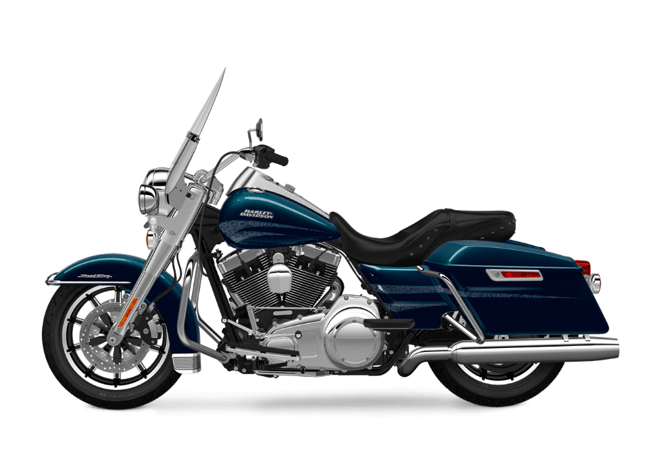 2016 Road King Cosmic Blue Pearl transparent