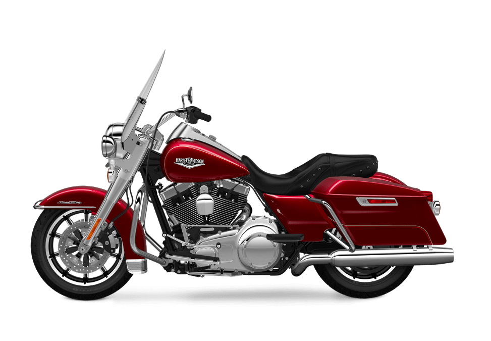 2016 Road King Velocity Red transparent