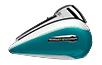 electra glide ultra classic crushed ice:teal pearl