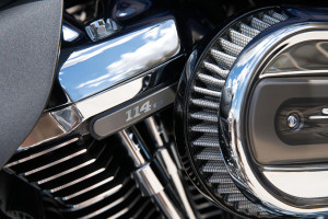 rider on Harley-Davidson CVO Limited engine