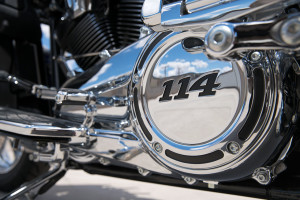 rider on Harley-Davidson CVO Limited engine