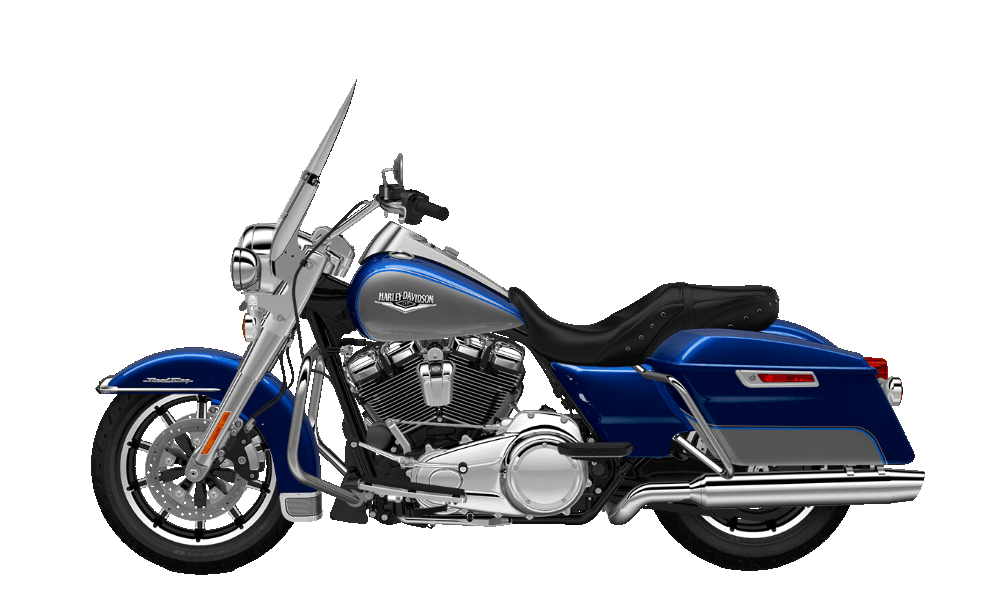 Road King Superior Blue- Billet SIlver