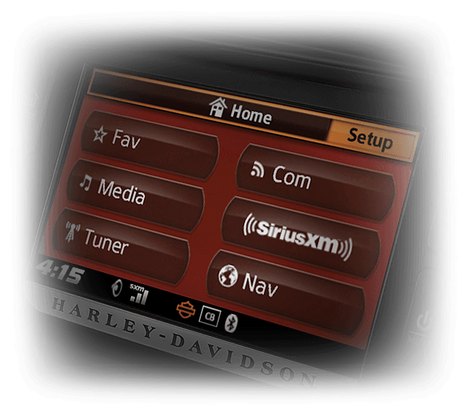 Harley-Davidson® Road Glide® Ultra infotainment features