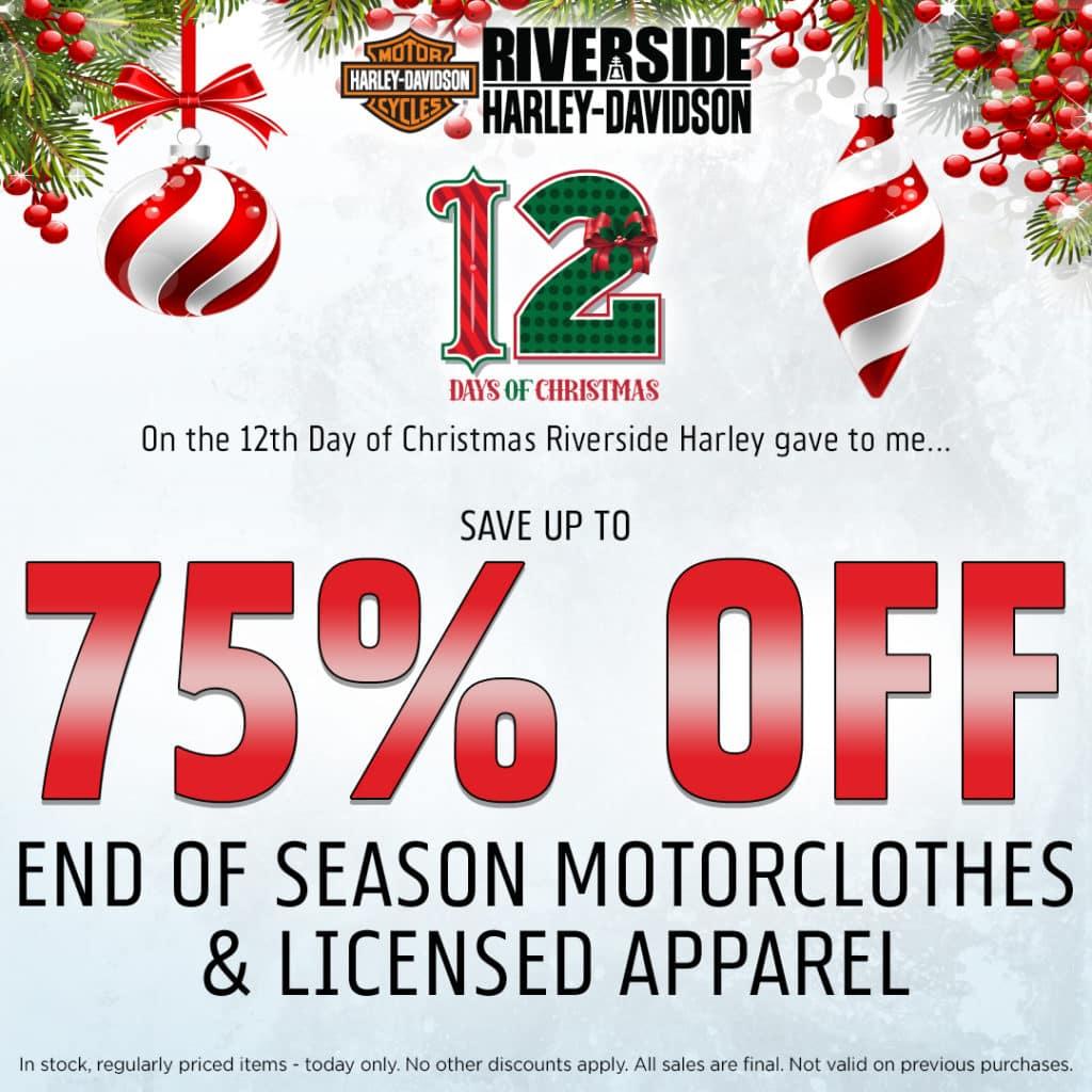 12 Days Before Christmas.12 Days Of Christmas Riverside Harley Davidson