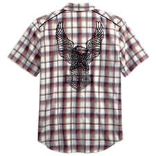 Harley Men's Eagle Plaid Garage Shirt 99266-19VM