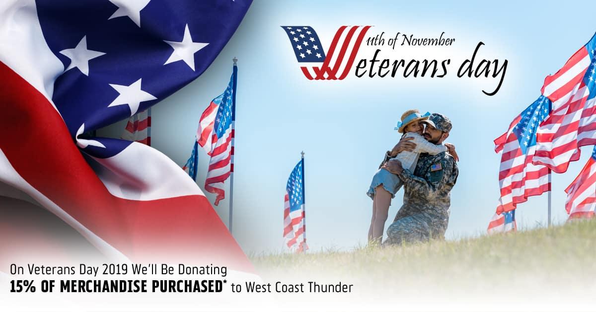 Riverside Harley 2019 Veterans Day West Coast Thunder Fundraiser