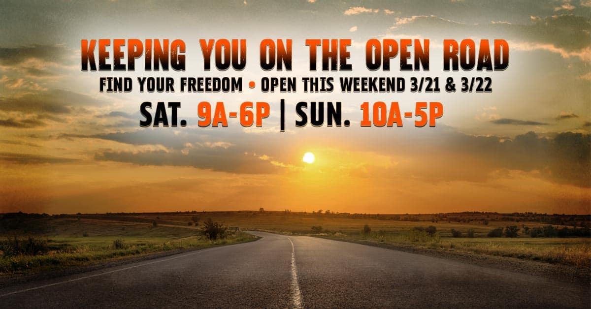 3/21-3/22 Riverside Harley Hours