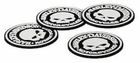 HDL-18522 - Harley Willie G Skull Coaster Set