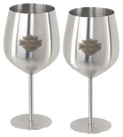 HDL-18788 - Harley Barware Metal Wine Glasses