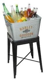 HDX-98508 Harley Metal Drink Cooler with Stand