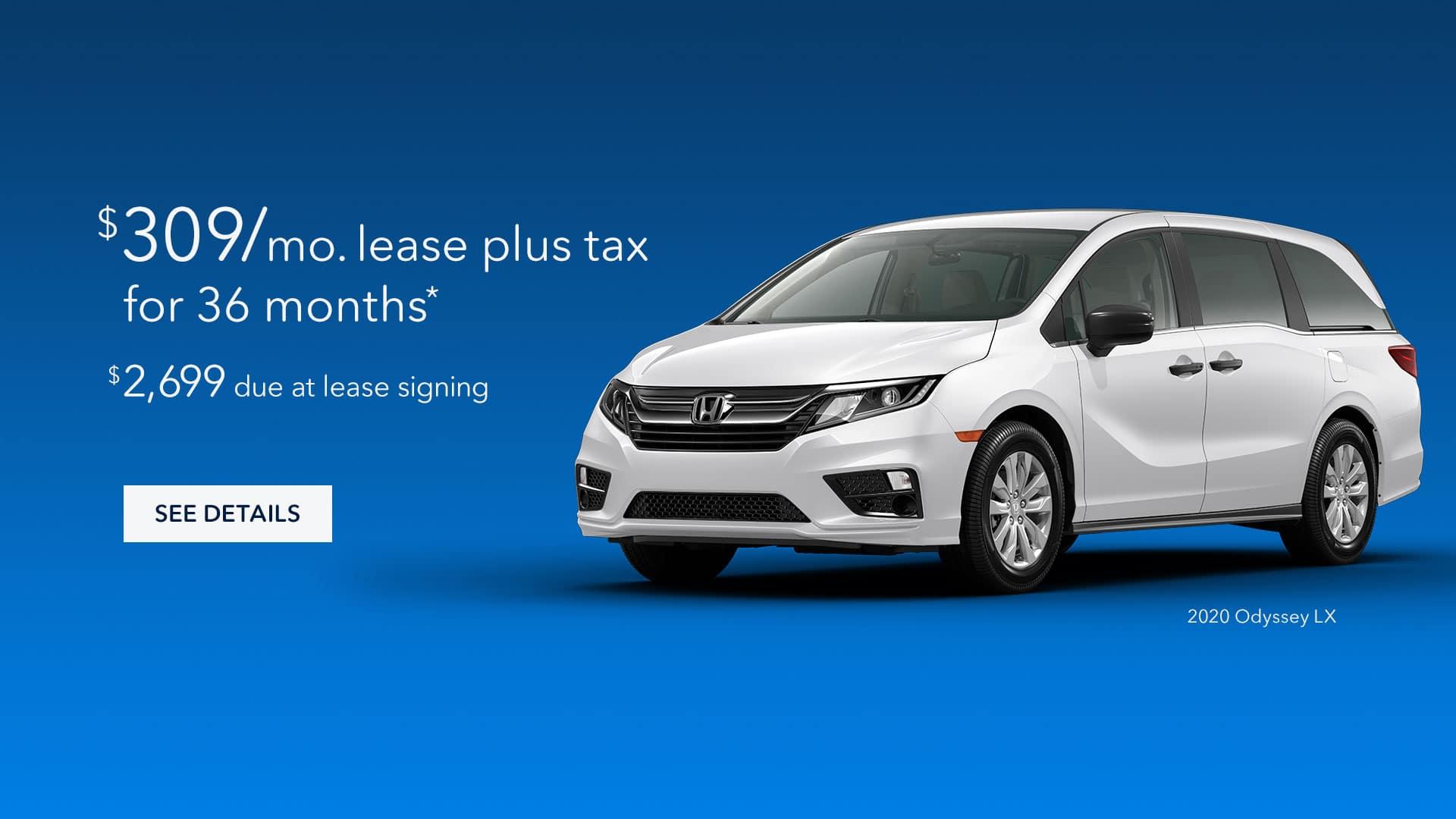 2020 Honda Odyssey Lease for $309