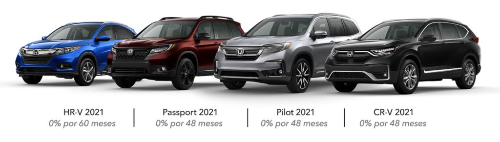 Oferta APR en SUVs Honda 2021