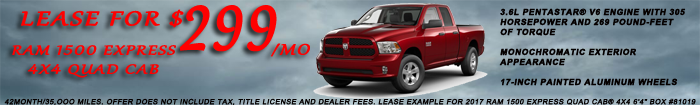2017 RAM Lease Special