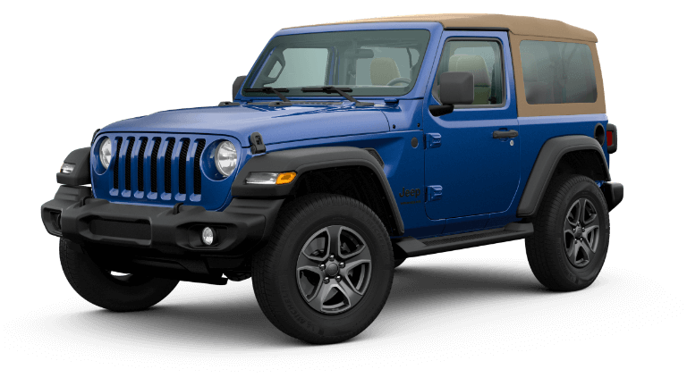 2020 Jeep Wrangler Black & Tan - Ocean Blue