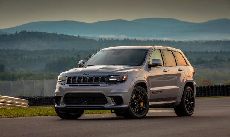 2021 Jeep Grand Cherokee exterior parked on test track