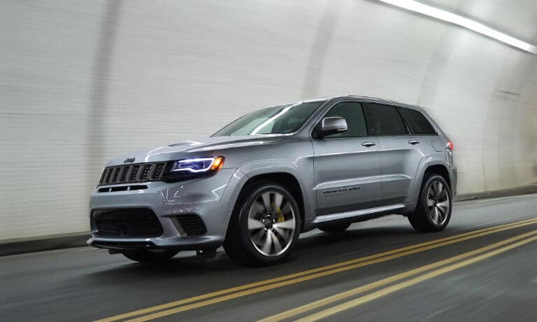 2021 Jeep Grand Cherokee exterior driving through tunnel