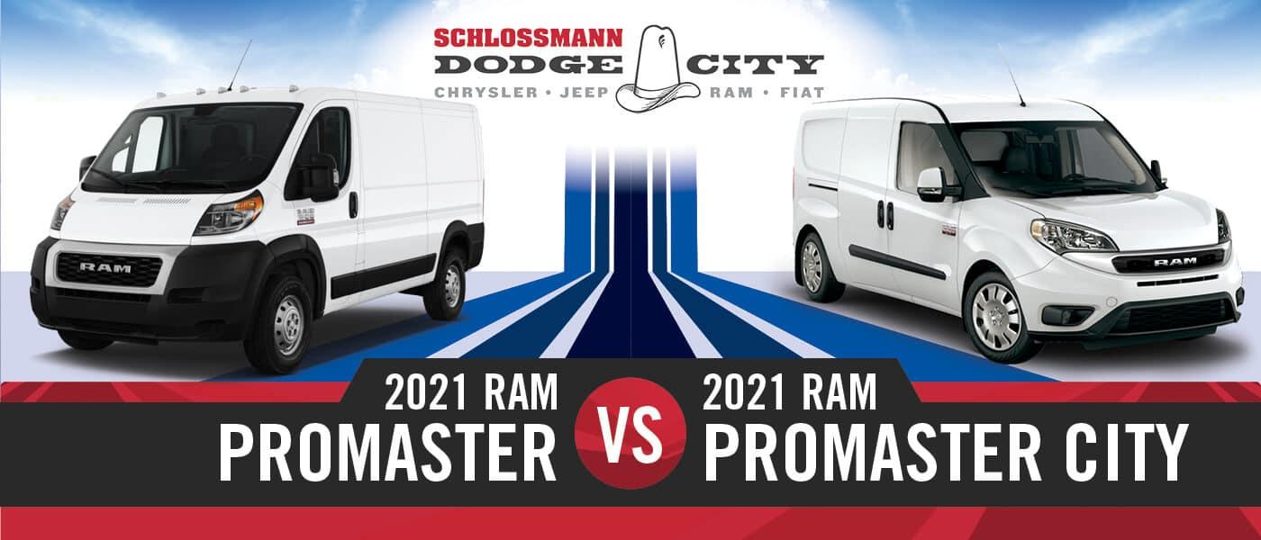 2021 Ram ProMaster vs. ProMaster City