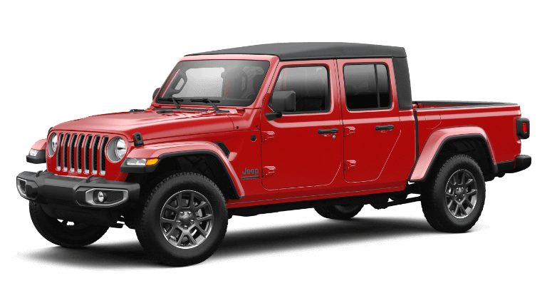 2021 Jeep Gladiator 80th Anniversary in Firecracker Red