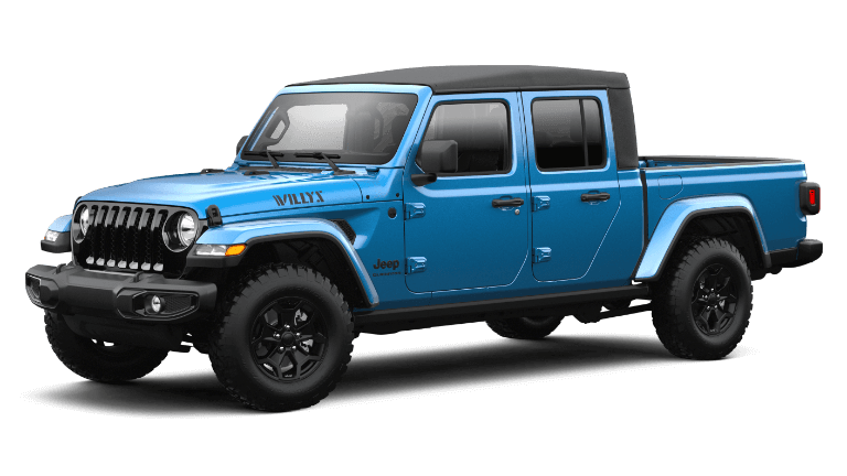 2021 Jeep Gladiator Willys in Hydro Blue