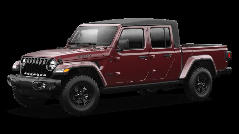 2021 Jeep Gladiator Willys Sport in Snazzberry