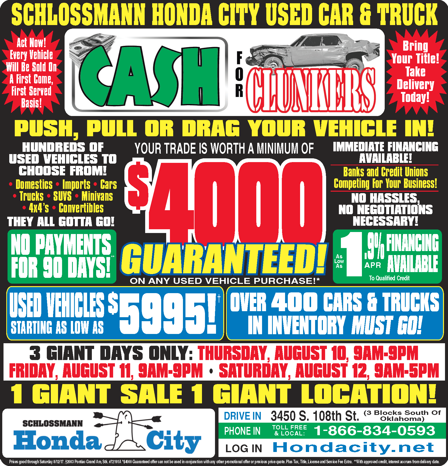 Honda City Cash for Clunkers