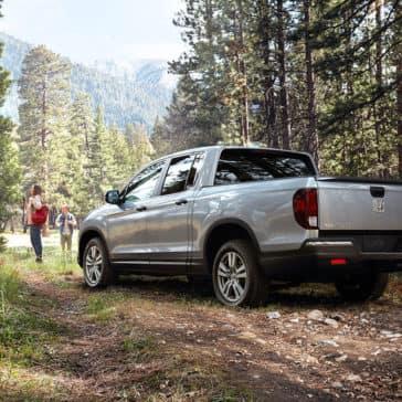 2018 honda ridgeline exterior parked camping