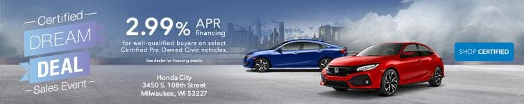 Certified Dream Sales Event Honda Civic