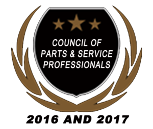 2016 2017 Council of Parts Service Award