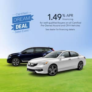 Honda City Certified Dream Deal Sales Event