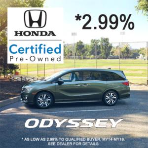 HCPO Odyssey sale