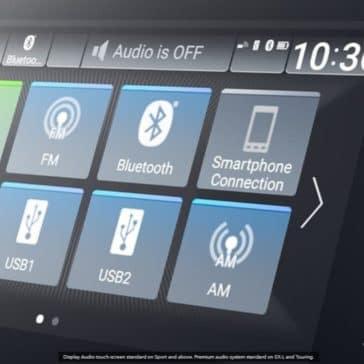 2020 Honda Accord Interior Audio Display