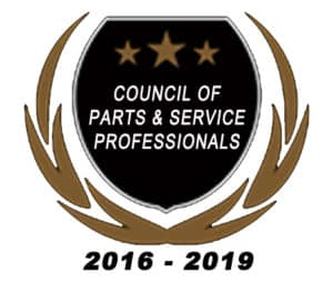 Honda Council of Parts and Service Professionals Award 2019