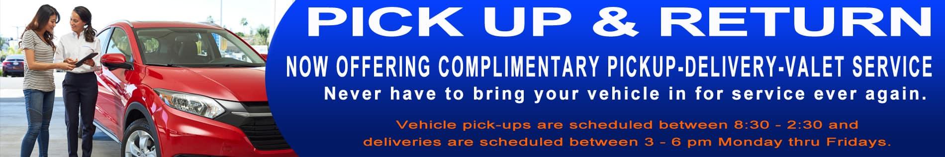 Service valet pick up deliver