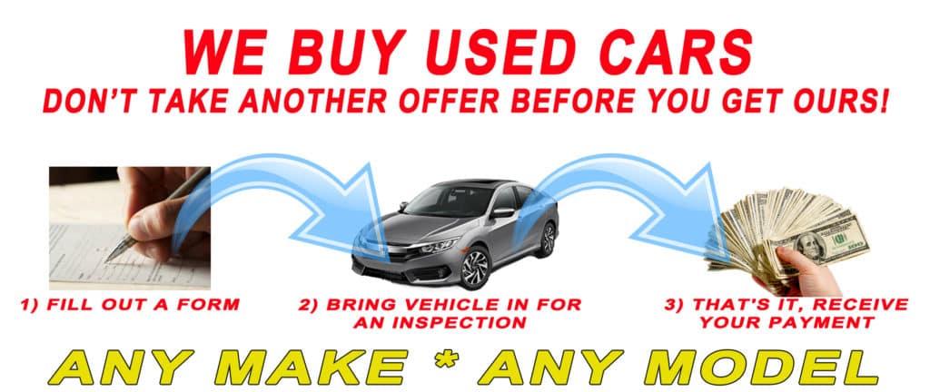 We Buy Cars Trucks Vans and SUV
