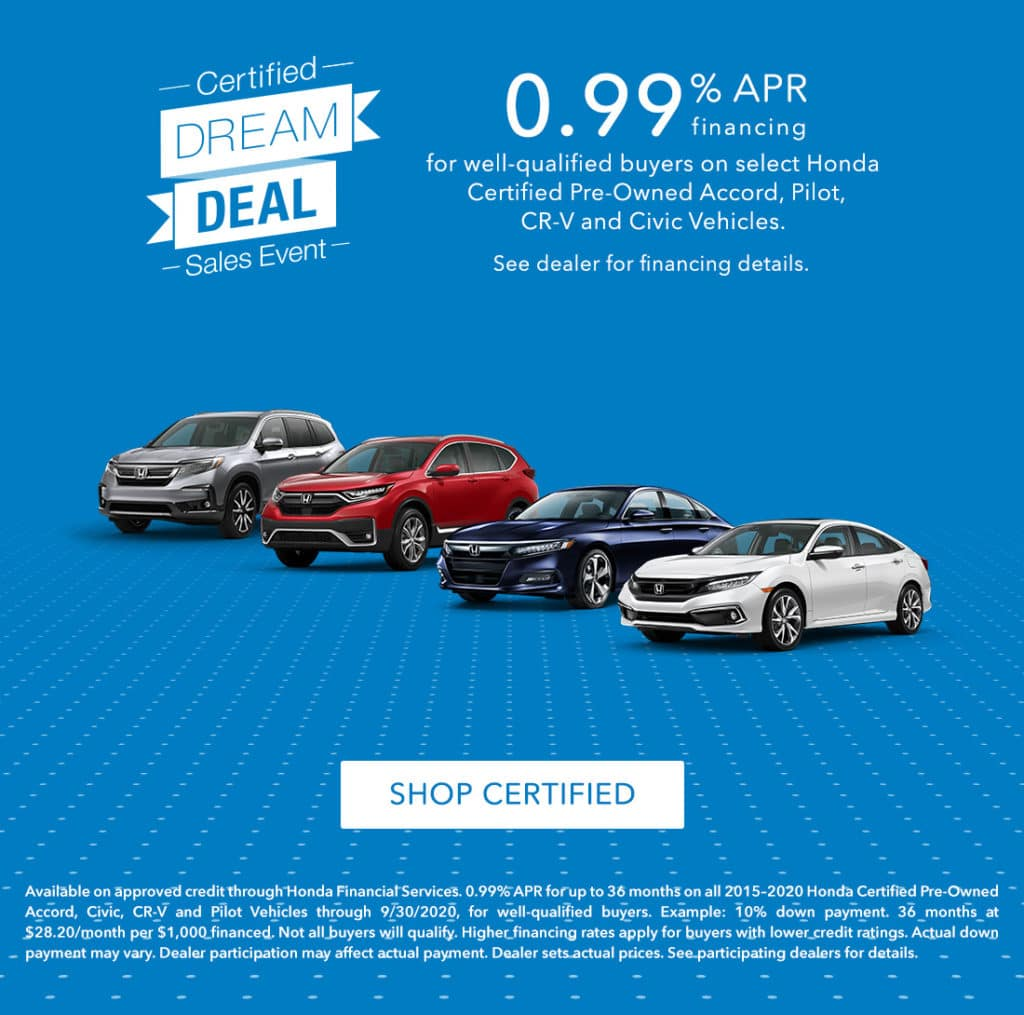 Certified Dream Deal Sales Event