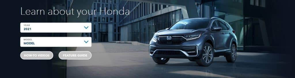 Learn about your Honda - Honda Info Center