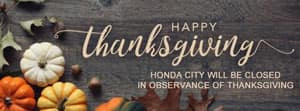 Happy Thanksgiving from Honda City