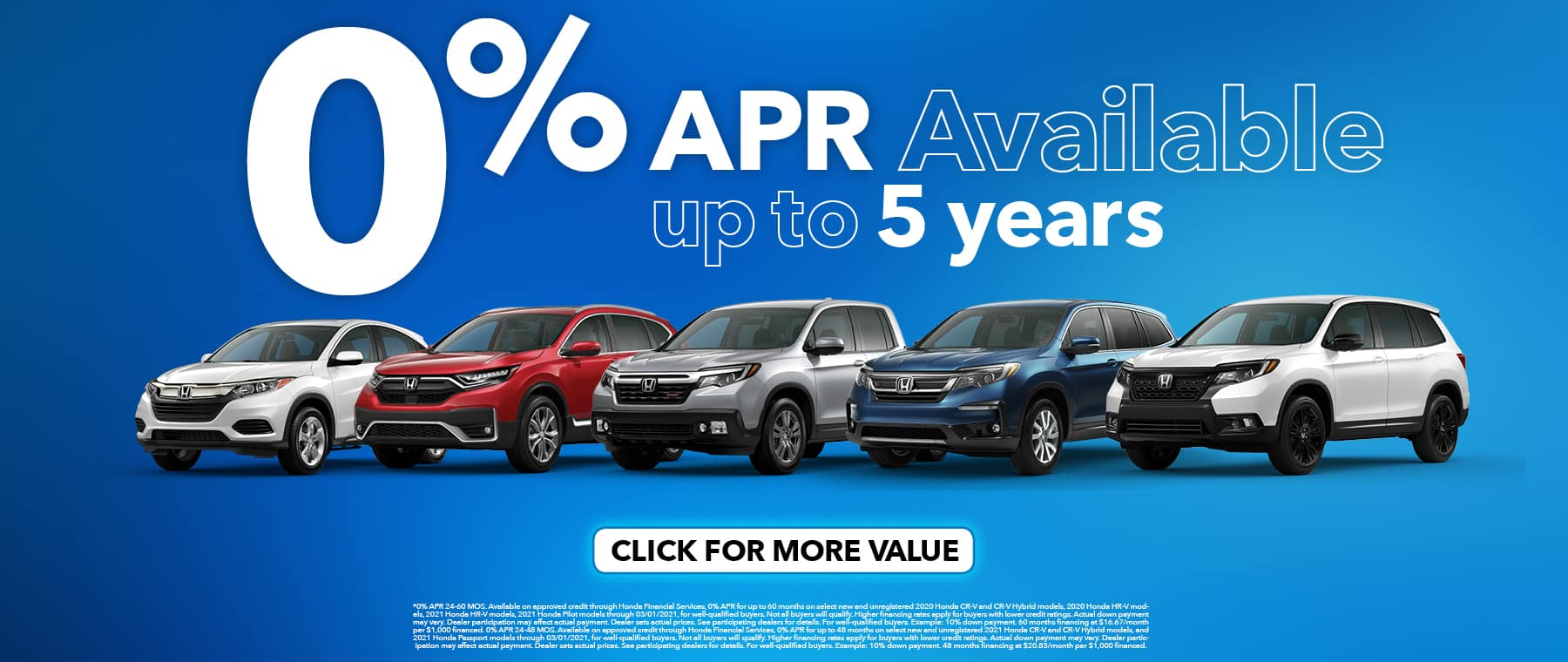 Honda 0% Financing Special APR