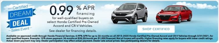 Honda Dream Deal Sales Event