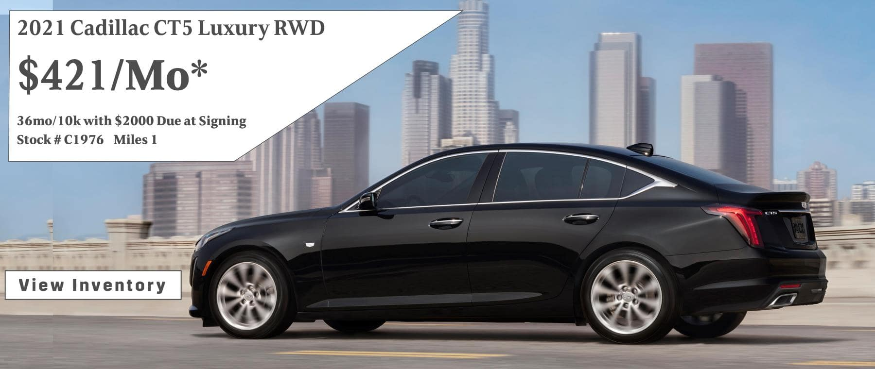 April Cadillac CT5 Lease Special $421/mo*