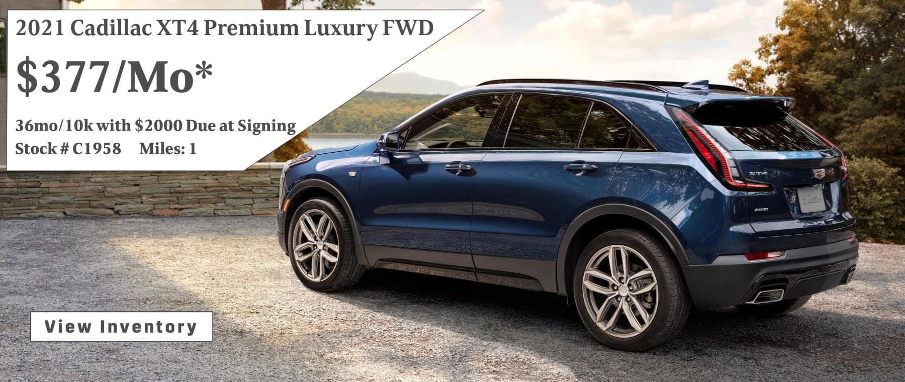 June Cadillac XT4 Lease Offer $377/mo*