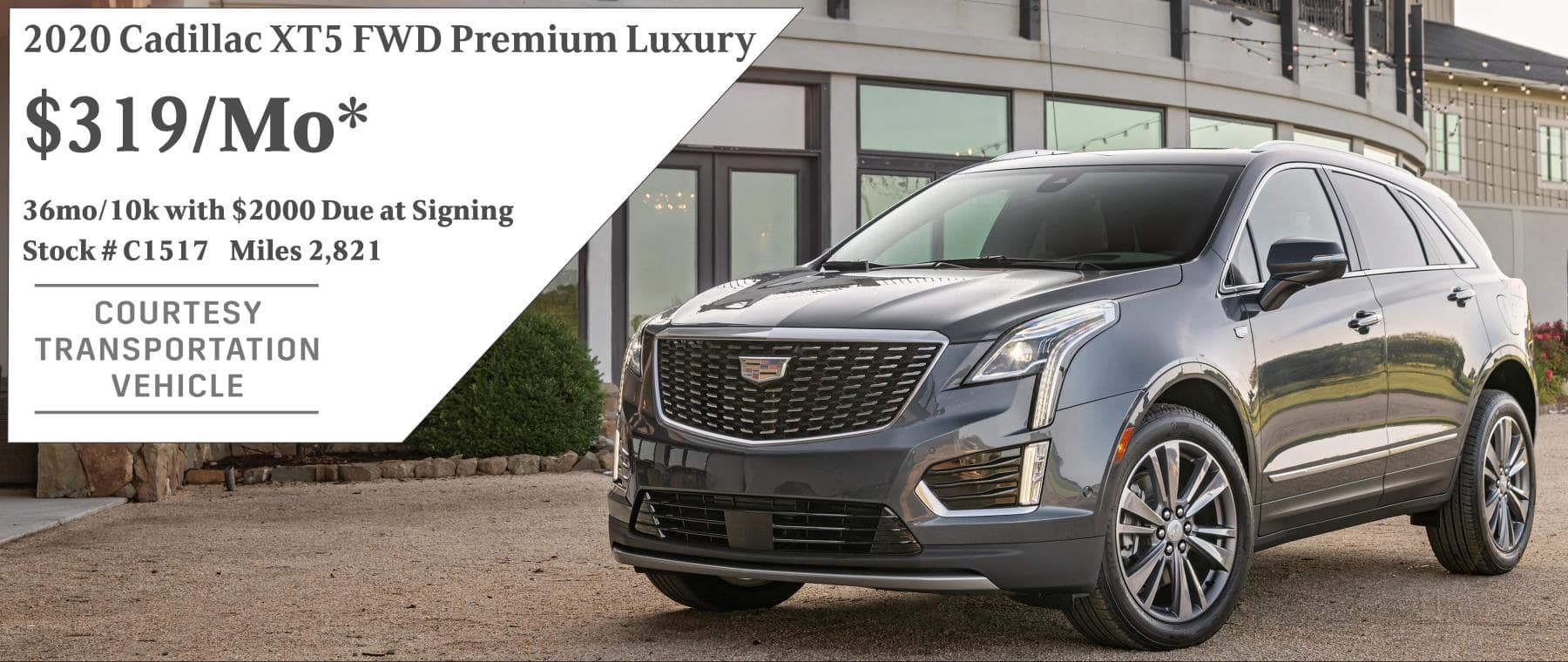 September 2020 XT5 Lease Offer $319/mo