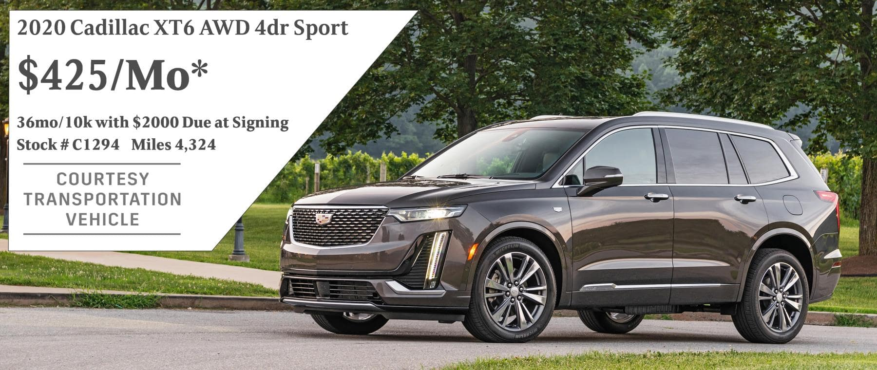September 2020 XT6 Lease Offer $425/mo