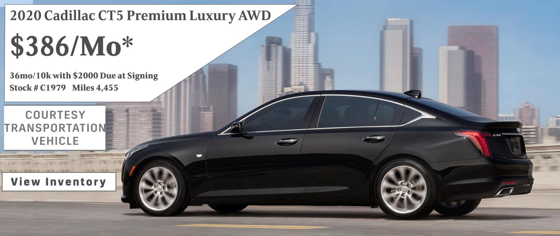 March Cadillac CT5 Lease Special $386/mo*