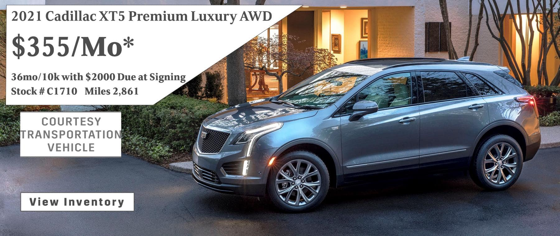 January XT5 Lease Special $355/mo*