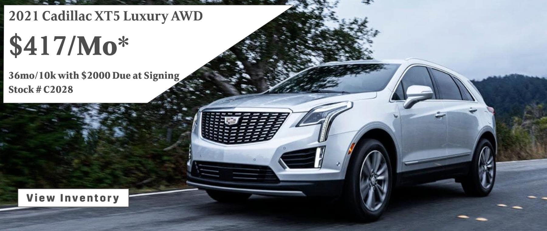 March Cadillac XT5 Lease Special $417/mo*