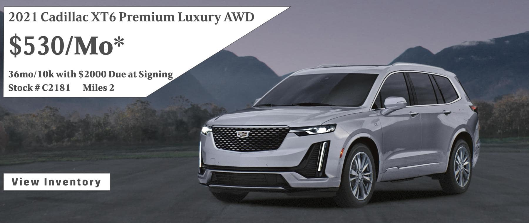 June 2021 Cadillac XT6 Lease Special $530/mo*
