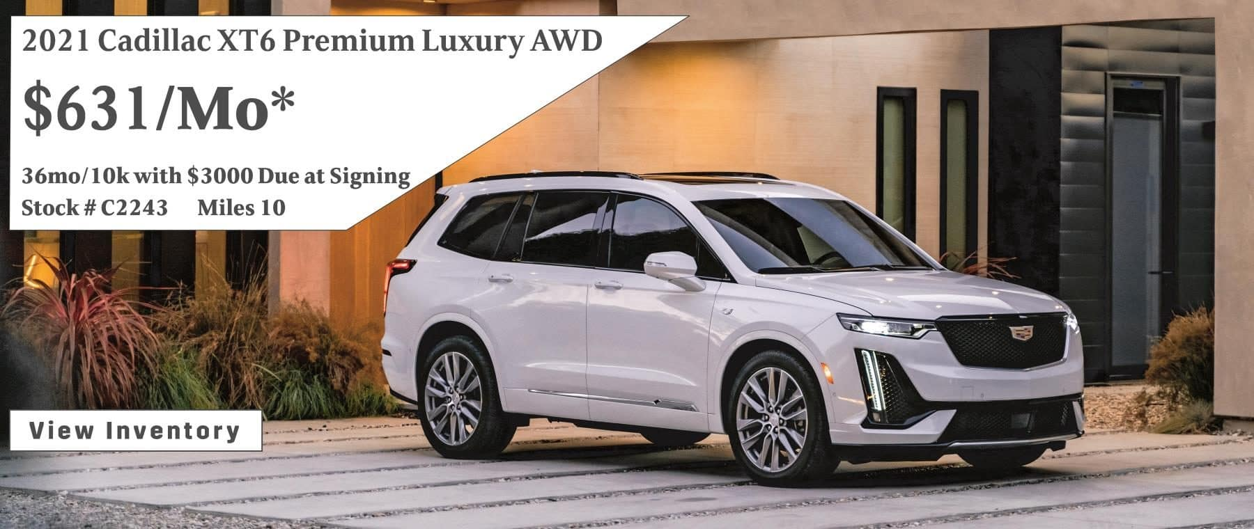 September 2021 XT6 Lease Special $631/mo*