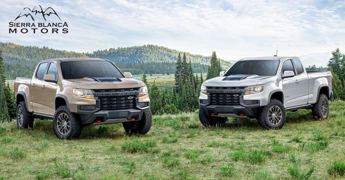 2021 Chevy Colorado With Pines In The Background